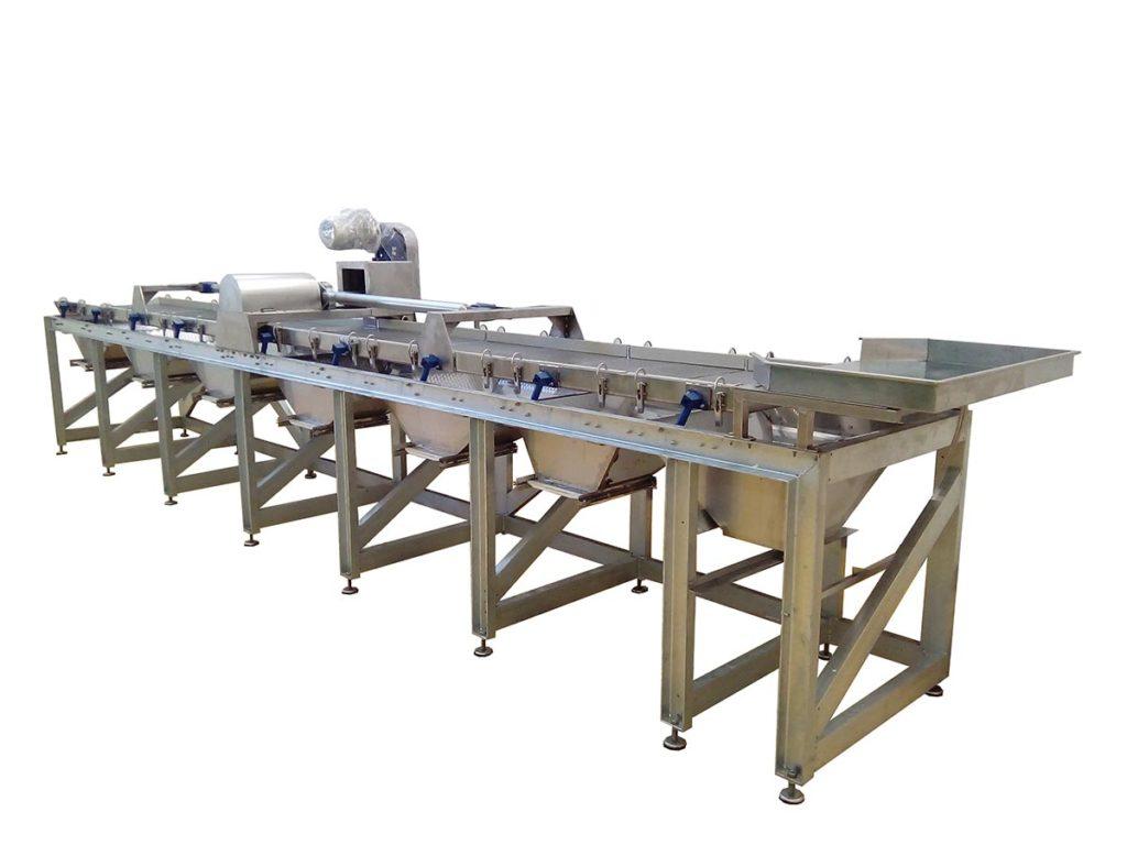 Vibrokalibrator je namenjen pretežno za sortiranje suvih šljiva ili sličnih proizvoda nepravilnig oblika.